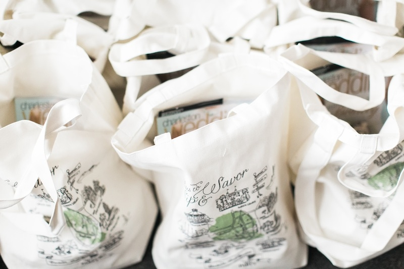 Guests left with totes emblazoned with Charleston's best picnic spots  from Tara Guérard Soirée's Life Is a Party line.