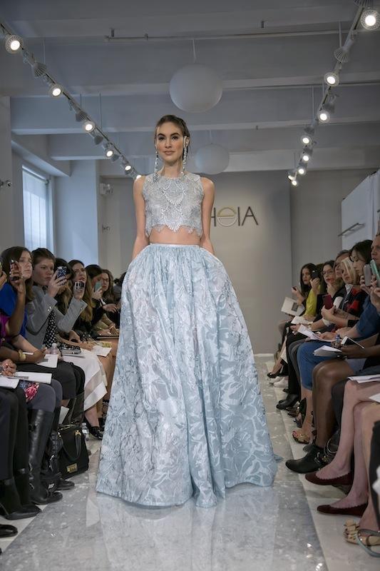 "THEIA White Collection's ""Leia."" Available in Charleston through Gown Boutique of Charleston."