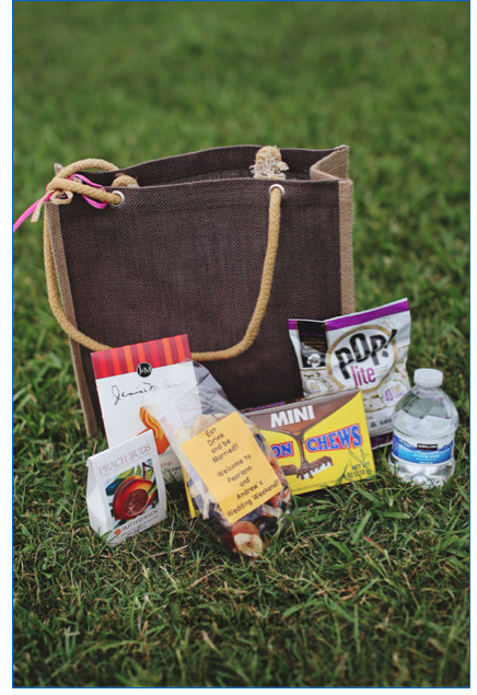 SOUTHERN HOSPITALITY: Out-of-town guests were welcomed by a tote bag full of treats.