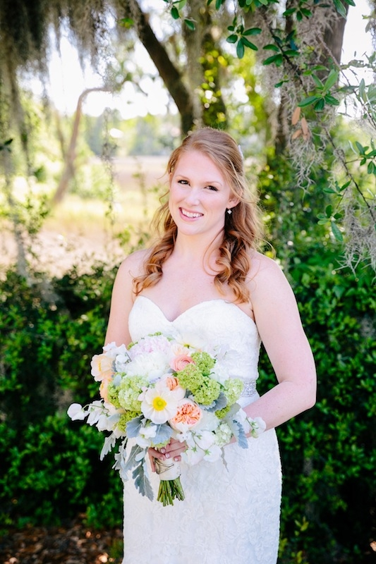 Bouquet by Branch Design Studio. Hair + makeup by Willow Salon. Gown by Mori Lee through Jean's Bridal. Image by Dana Cubbage Weddings.