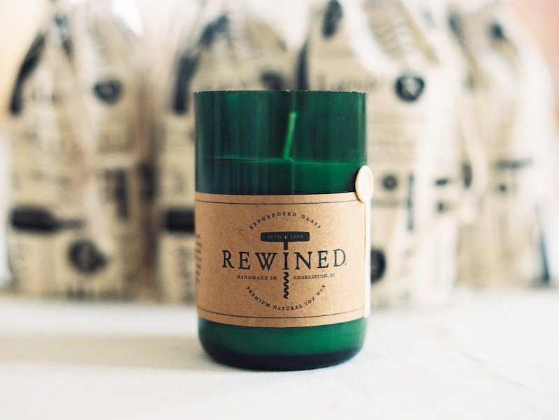 Especially now that fall is in full swing, Rewined Candles makes a superior wedding or shower favor.