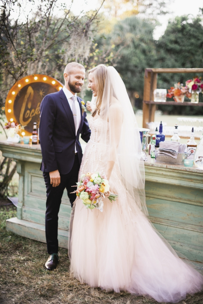 I GOT YOU, BABE: Quirky colors, playful décor, and the  couple's own sense of fun brought out the whimsical side of Magnolia Gardens.