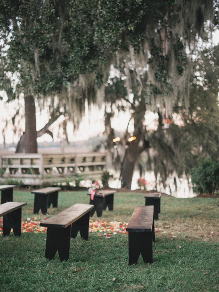 Event design and coordination by Tusk Events. Image by Timwill Photography at Magnolia Plantation and Gardens.