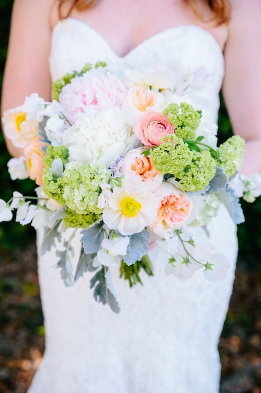 Bouquet by Branch Design Studio. Gown by Mori Lee through Jean's Bridal. Image by Dana Cubbage Weddings.