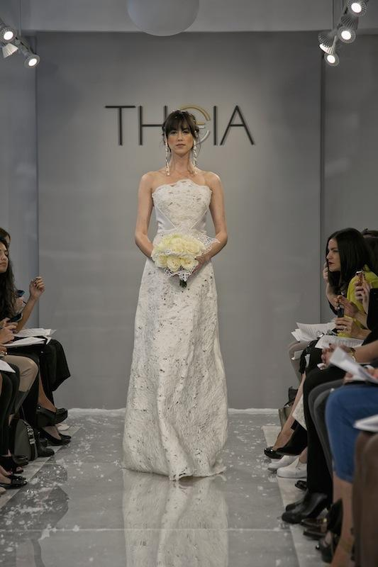"""THEIA White Collection's """"Umai."""" Available in Charleston through Gown Boutique of Charleston."""