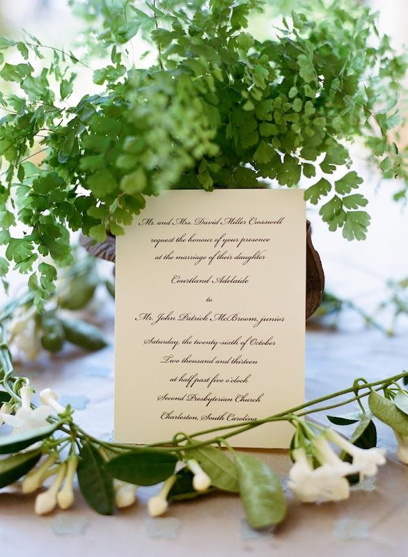 Stationery from Crane and Co. Florals by Sara York Grimshaw Designs. Image by Marni Rothschild Pictures.