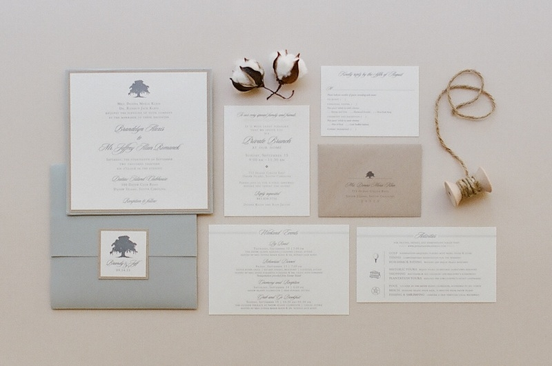 Stationery Suite by Studio R. Image by Ashley Seawell Photography.