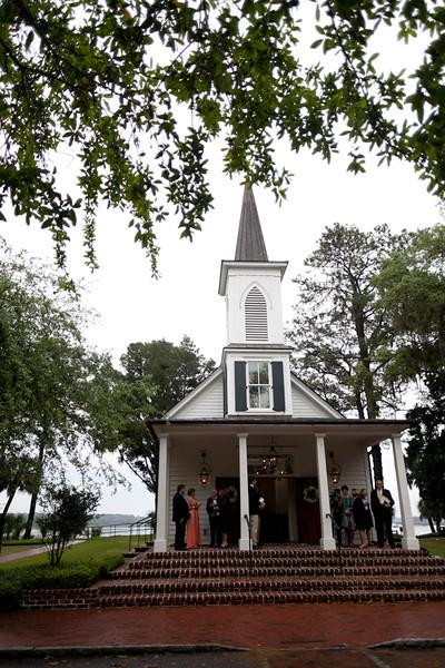 "GOING TO THE CHAPEL: ""The property sits right on the May River, so it incorporated our love of the water!"" says Jacki."