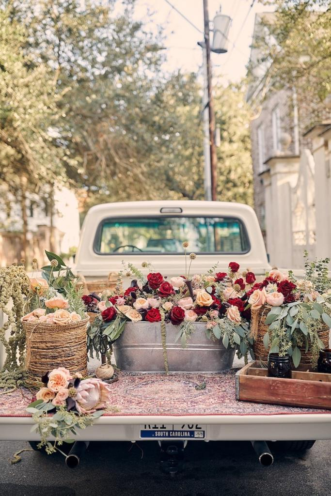 Photographed for BHLDN by Kirk Roberts. Florals by Salt and Stem.