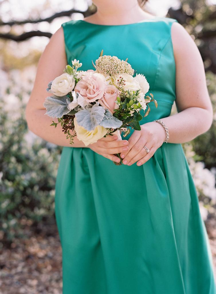 """""""When you get engaged, right away people ask, 'What are your colors?'"""" says Calder. While she admits color has its place (like in this wedding with its blues, greens, and pinks), Calder's  focus goes elsewhere."""