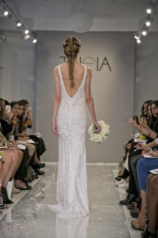 "THEIA White Collection's ""Tara."" Available in Charleston through Gown Boutique of Charleston."