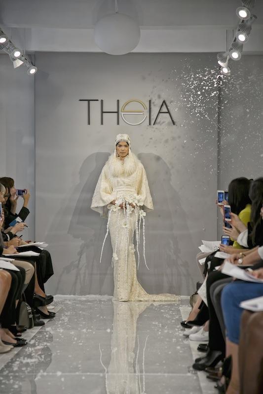 "THEIA White Collection's ""Aka Ana."" Available in Charleston through Gown Boutique of Charleston."