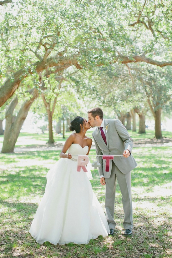 AFTERNOON IN THE PARK: After the ceremony and reception, Ruth and Thomas took photographs beneath the picturesque trees at White Point Garden downtown.