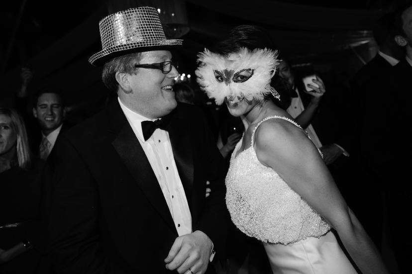 CHLOE & PAUL'S ROCKIN' EVE: The couple donned feathers and sequins and danced the night away in typical New Year's Eve fashion.