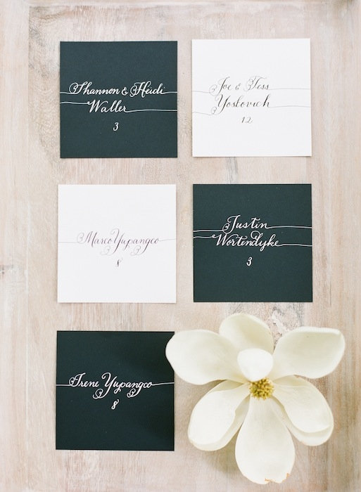Butler cards by Laura Hooper Calligraphy. Image by KT Merry Photography.