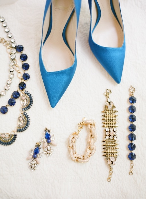 Reception jewelry from J.Crew. Shoes by Christian Dior. Image by KT Merry Photography.