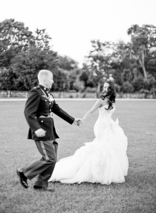 Gown by Mark Zunino. Image by KT Merry Photography at Middleton Place.