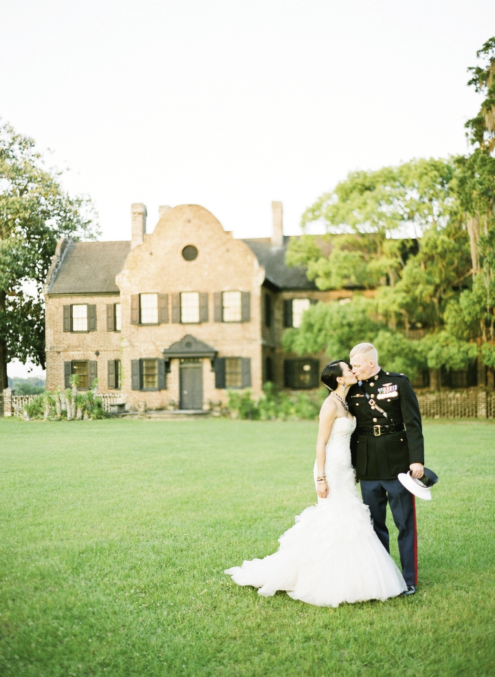 "THE REST IS HISTORY: Once they discovered that Middleton  Place heir Arthur Middleton  had signed the Declaration of  Independence, Kat and Chip were sold on the venue. ""We're both very patriotic,"" says the bride."