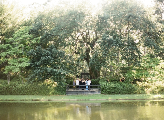 LAKE PLACID: Upon the couple's first visit to Middleton Place, they saw a pair of swans gliding across its reflecting pond; their guests were greeted with similar serenity.