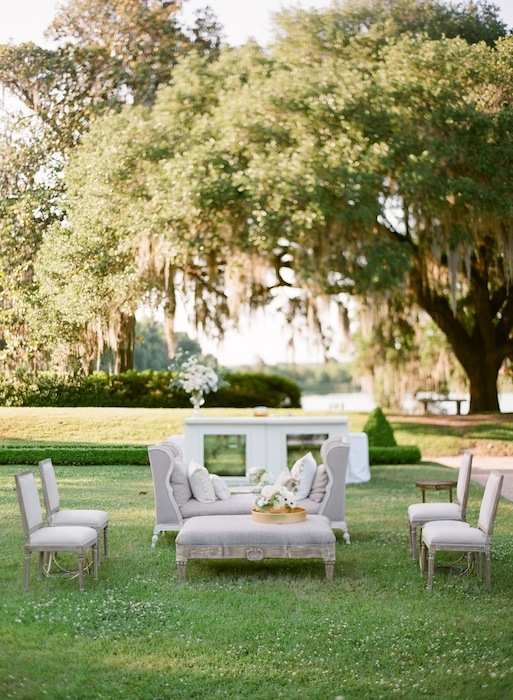 Rentals from Snyder Events. Image by KT Merry Photography at Middleton Place.