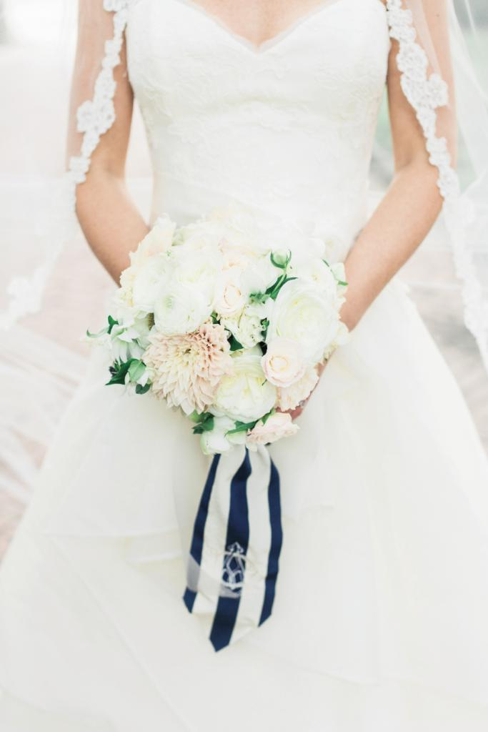 Monograms ran like a current through the wedding dominated by 