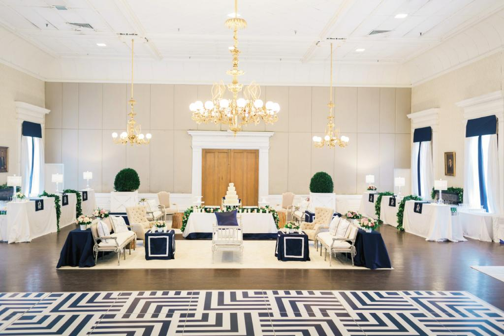 The bride's favorite décor element? Their one-of-a-kind dance floor.