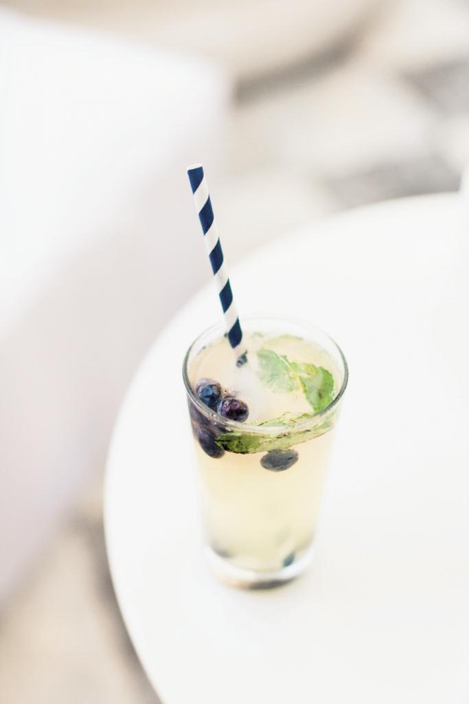 Striped paper straws ensured even drinks were in on the palette.