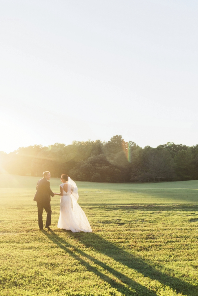 """Martha, a disability attorney for the Social Security Administration, and Charley, a partner in a mortgage trading company, chose the 1670s rice plantation Yeamans Hall Club for their reception because, says Martha, """"It's in such a pretty, natural setting."""""""
