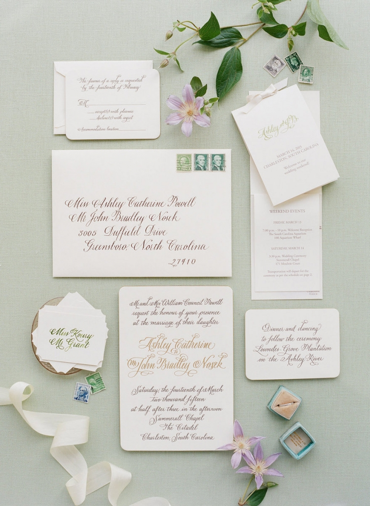 Photograph by Corbin Gurkin. Stationery by Dulles Designs--Exquisite Stationery.