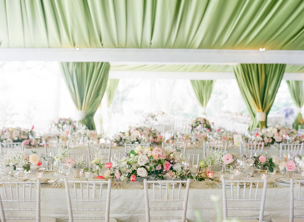 Photograph by Corbin Gurkin. Design by Easton Events. Draping and florals by Blossoms Events.