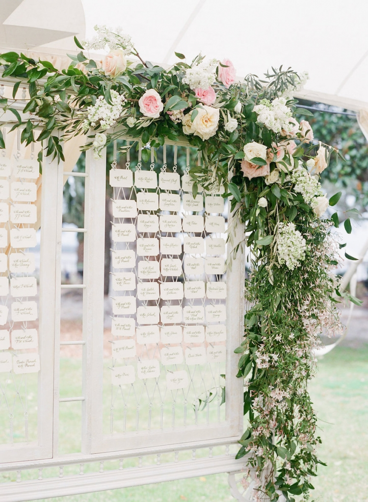 Photograph by Corbin Gurkin. Florals by Blossoms Events. Signage by Dulles Designs--Exquisite Stationery.