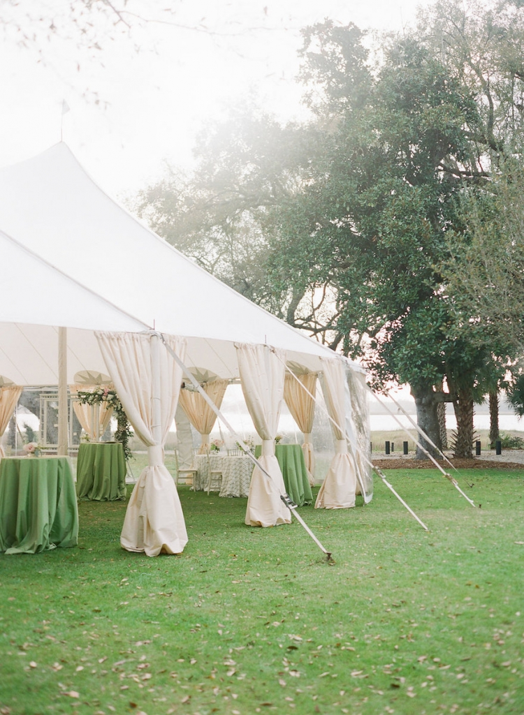 Photograph by Corbin Gurkin at Lowndes Grove Plantation. Tent by Snyder Events Rentals.