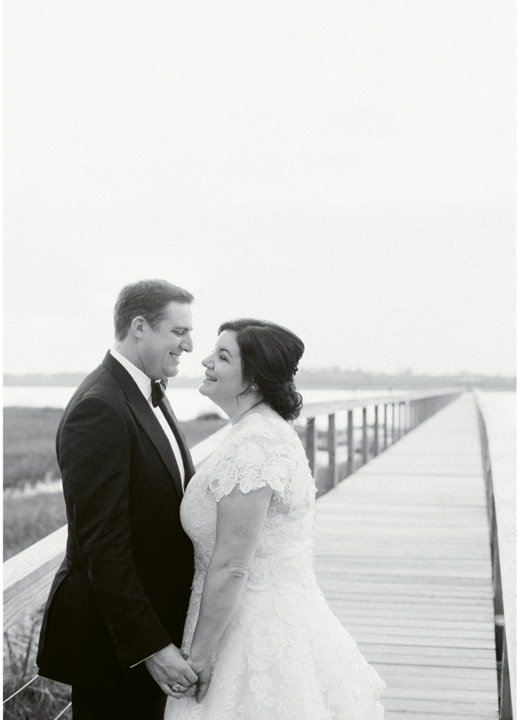 Photograph by Corbin Gurkin. Bride's attire by Oscar de la Renta. Groom's attire by Tom Ford.