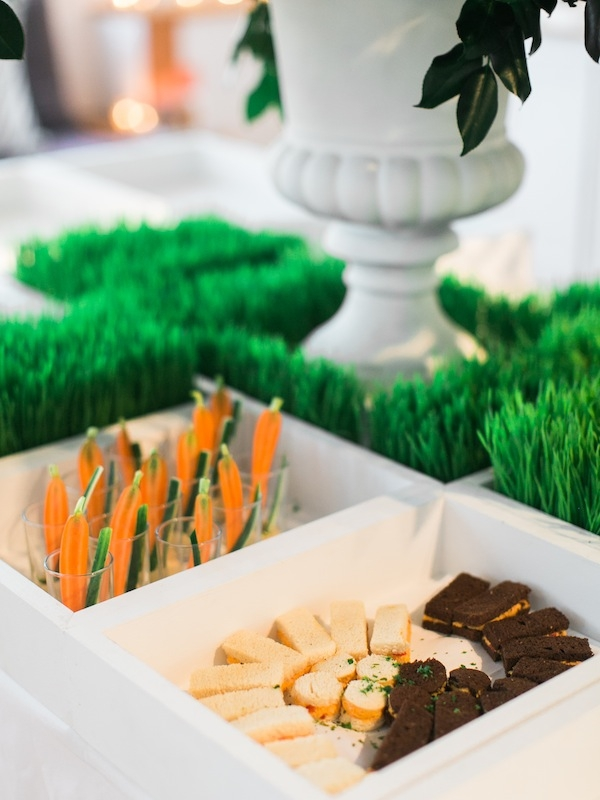 Guests snacked on bites from James Burn Catering (J.B.C. Catering).