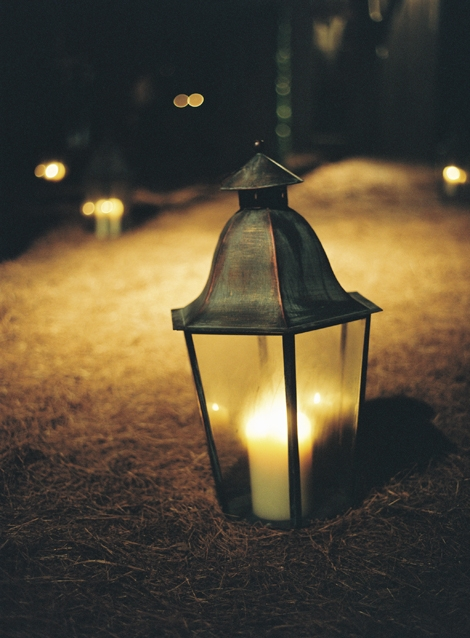 GLOW ON: With nightfall coming early in the fall, candles tucked into lanterns not only cast helpful soft light, but also protect the area from open flames.