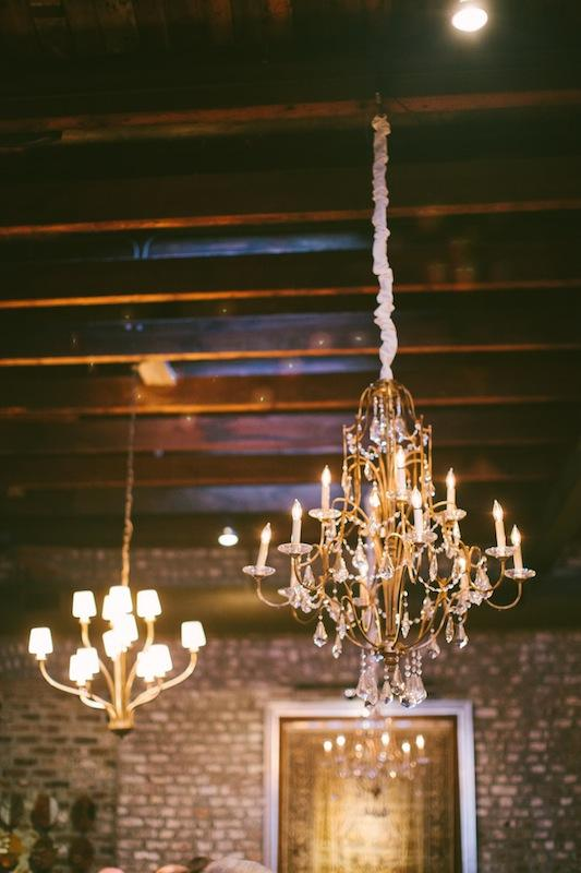 Lighting by Technical Event Company. Wedding design and coordination by Sage Innovations. Image by Juliet Elizabeth Photography at McCrady's Restaurant.