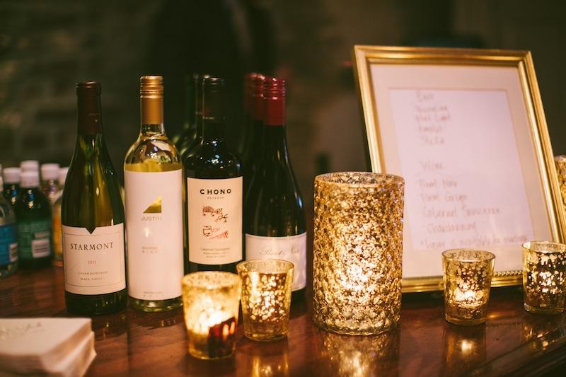 Bar service by McCrady's Restaurant. Image by Juliet Elizabeth Photography.