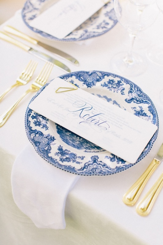 Wedding and floral design and coordination by Tara Guérard Soirée. Rentals by Berlin's Restaurant Supply. Paper goods by Lettered Olive. Calligraphy by Elizabeth Porcher Jones. Image by Corbin Gurkin.