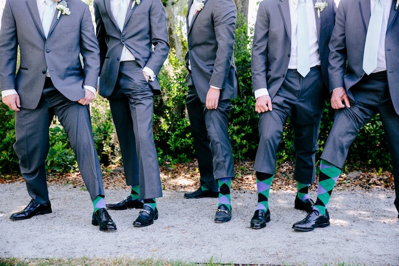 Groom + groomsmen attire by Calvin Klein through Men's Wearhouse. Image by Dana Cubbage Weddings.