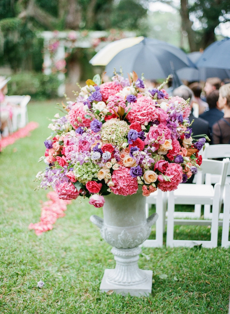 Wedding and floral design by Engaging Events. Photograph by Marni Rothschild Pictures at the Legare Waring House. .