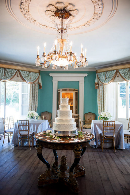 Cake by Wedding Cakes by Jim Smeal. Image by Marni Rothschild Pictures at The William Aiken House.