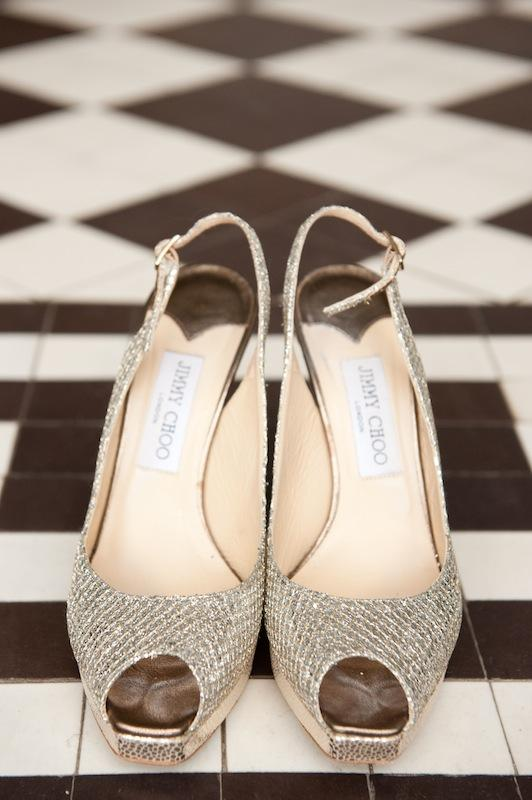 Bride's shoes by Jimmy Choo. Image by Reese Moore Weddings.
