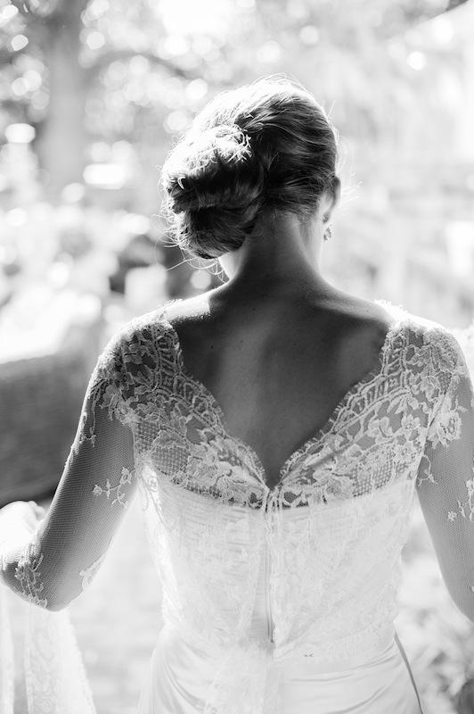 Bridal attire by Monique Lhuillier, available in Charleston through Maddison Row. Image by Marni Rothschild Pictures.