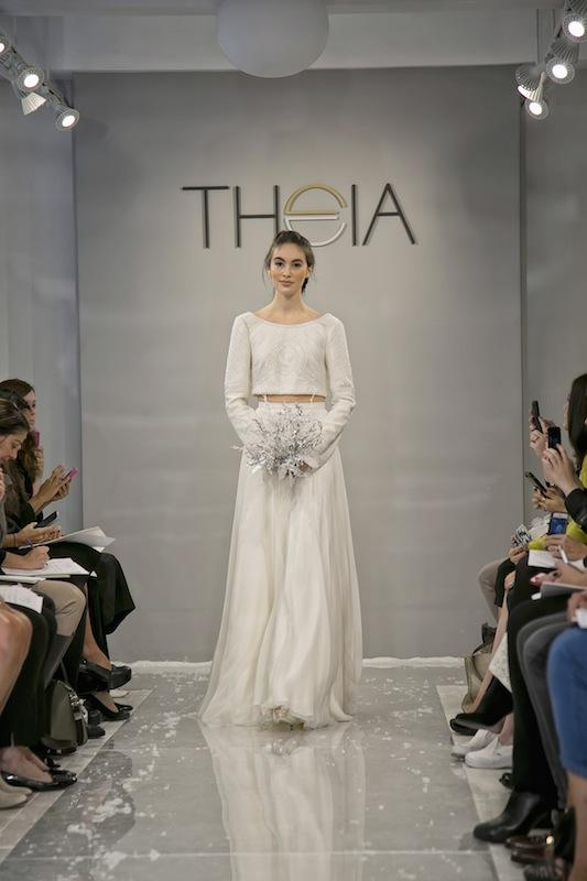 """THEIA White Collection's """"Faye."""" Available in Charleston through Gown Boutique of Charleston."""