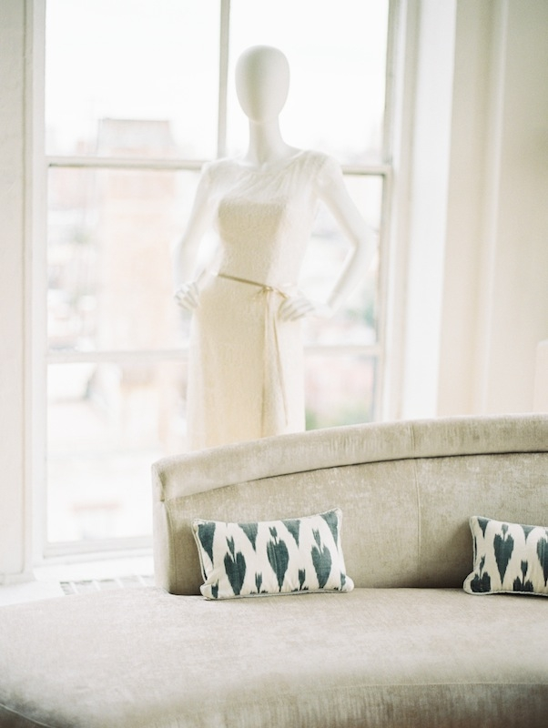 A little pattern (like these ikat fleur de lis pillows) adds energy to a space without detracting from the show-stopping view