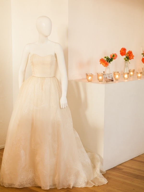 As the evening took on a glow, the blush hue of this Kate McDonald gown grew warmer.
