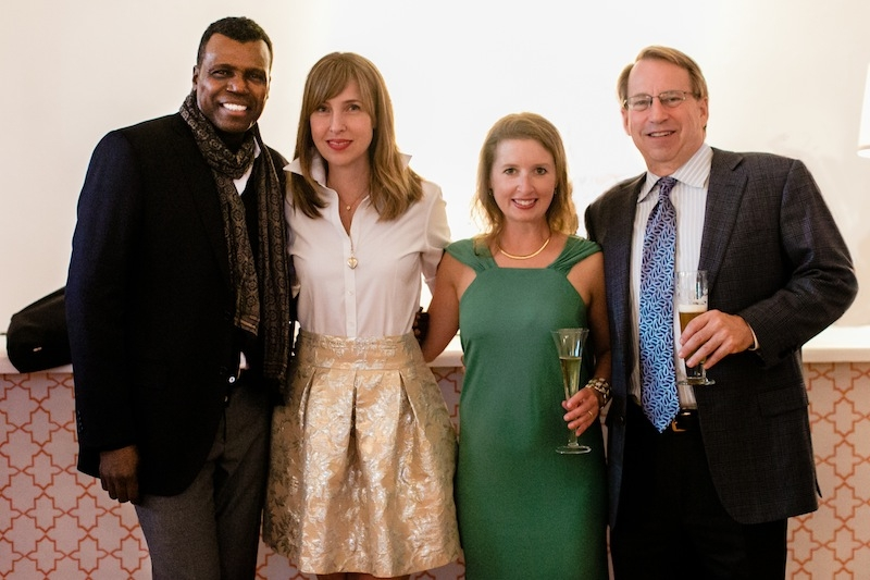 (from left) 2014 Charleston Weddings Spring Bridal Show Style Icon Mark Ingram, Charleston Weddings Editorial Director Melissa Bigner, Director of Development Della MacNicholas and Gulfstream Communications Principal Jeff Drew