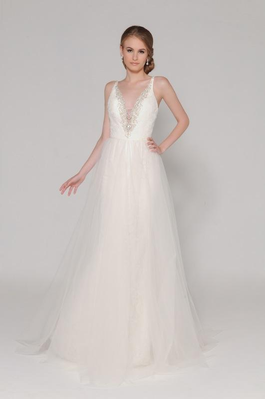 "Eugenia Couture's ""Juliette"" with overskirt. Available through EugeniaCouture.com."