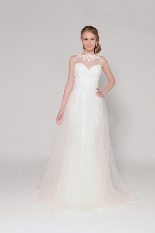 "Eugenia Couture's ""Annabelle"" with overskirt. Available through EugeniaCouture.com."