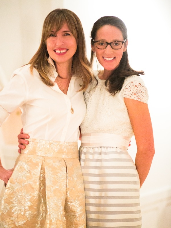 (from left) Melissa Bigner and Tara Guérard donned LulaKate designs.